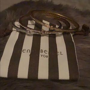 Henri Bendel 3 Swarovski crystal bracelets